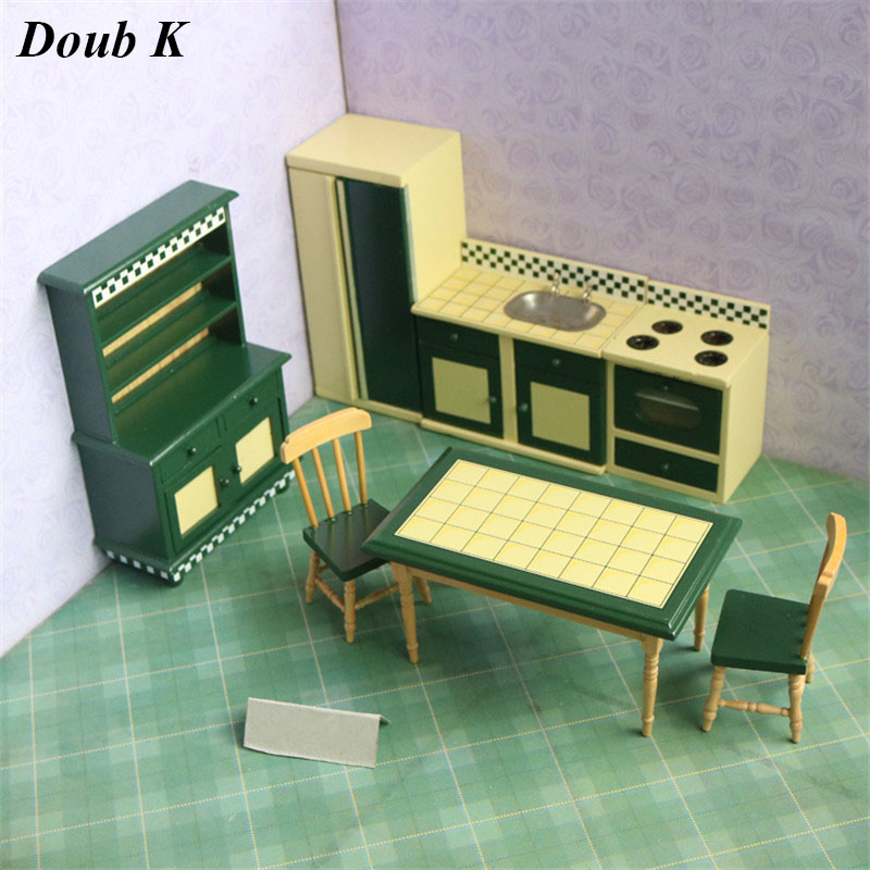 Doub K 1:12 mini Wood Dollhouse Furniture toy Miniature dolls house wooden furniture accessories pretend play toys for girls hot new iron art miniature mini flower stand chair kids toys furniture white 90 74mm for 1 12 dollhouses model accessories wwp5566