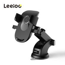 LEEIOO Автомобильный держатель для телефона на лобовое стекло в машину для samsung S9 S8 Plus 360 Вращающийся Автомобильный держатель для iPhone X подставка для телефона