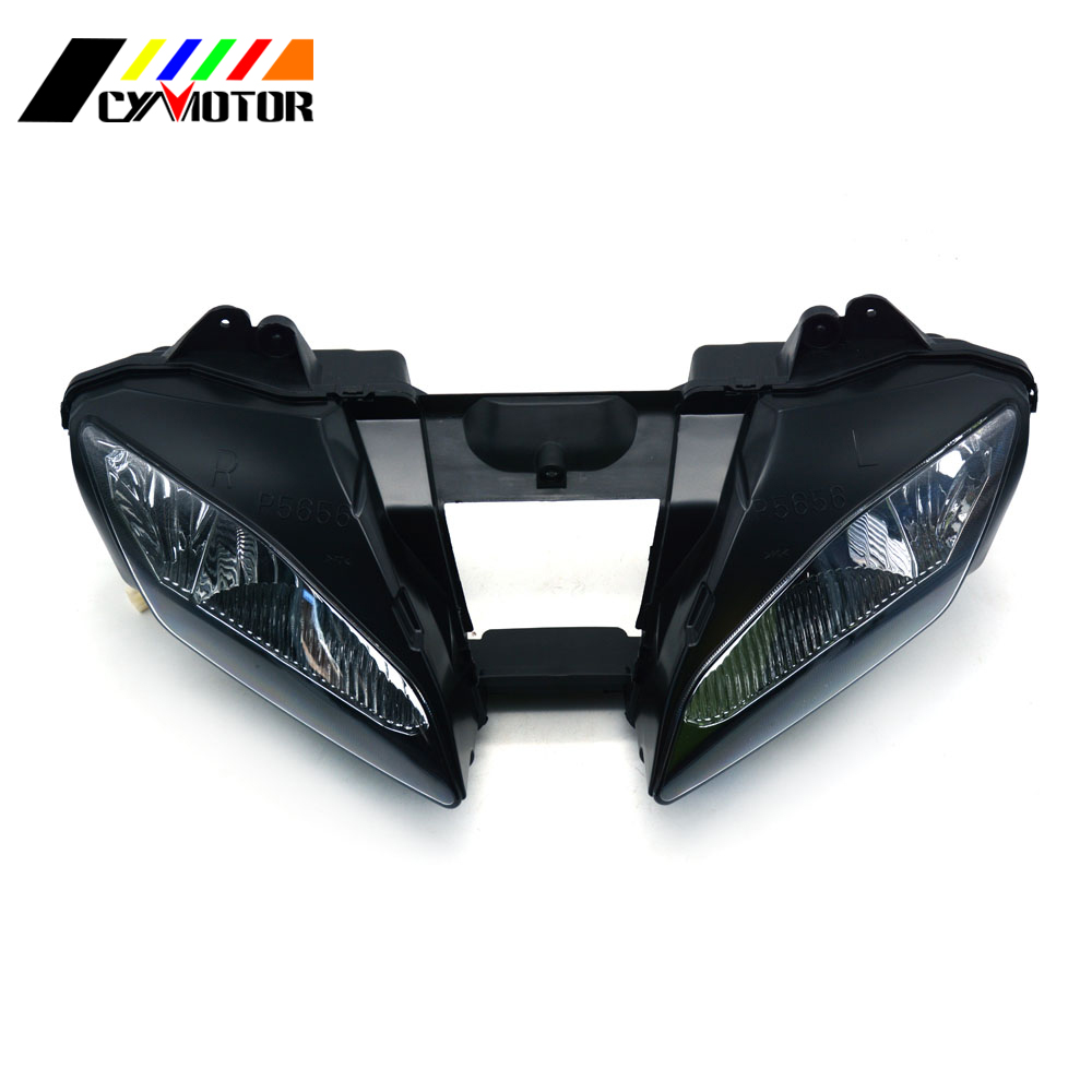 Motorcycle Front Headlight Headlamp For YAMAHA YZFR6 YZF R6 YZF-R6 2006 2007 06 07 Street Bike motorcycle accessories upper front headlight headlamp bracket fairing stay for yamaha yzf600 yzf 600 r6 2006 2007