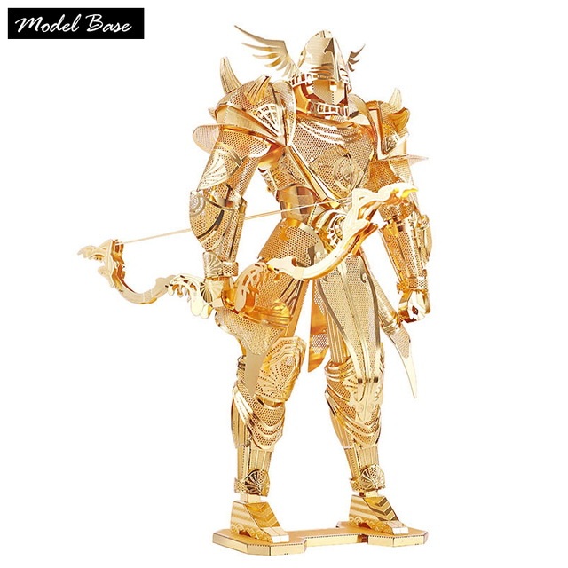 3D Puzzle Assembled Model Creative Aadult Toys Three-Dimensional Teaser Metal Model For Children  Ling Bow Knight Metal Puzzels