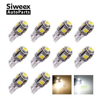 10 sztuk T10 W5W 194 168 lampa DC 24V 5 SMD 5050 LED MAKER DOME wnętrze Wedge białe światełka ciepłe białe żarówki do ciężarówki tanie i dobre opinie Siweex Turn Signal Other T10 (W5W 194) 24 v MAZDA CX-5 2013 2014 2015 2016 W5W 5 5050 Trunk Lamp Panel lamp License plate lights