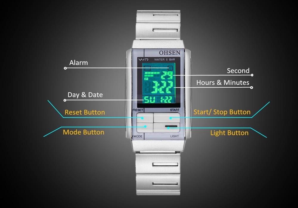 Relogio Feminino NEW Fashion OHSEN Digital Watch Female Women Watches 50m Swim Date Day Display Lady Watch electronic Wristwatch 16