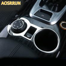 AOSRRUN Car accessories ABS Chrome Trim Water glass cover decoration For Peugeot 3008 1.6THP 2012 2013 2014 2015 2016