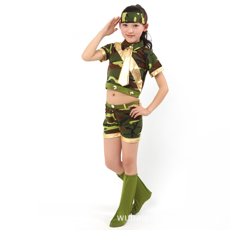 2015 Summer Wear Camouflage Small Warrior Costumes Children Day Men