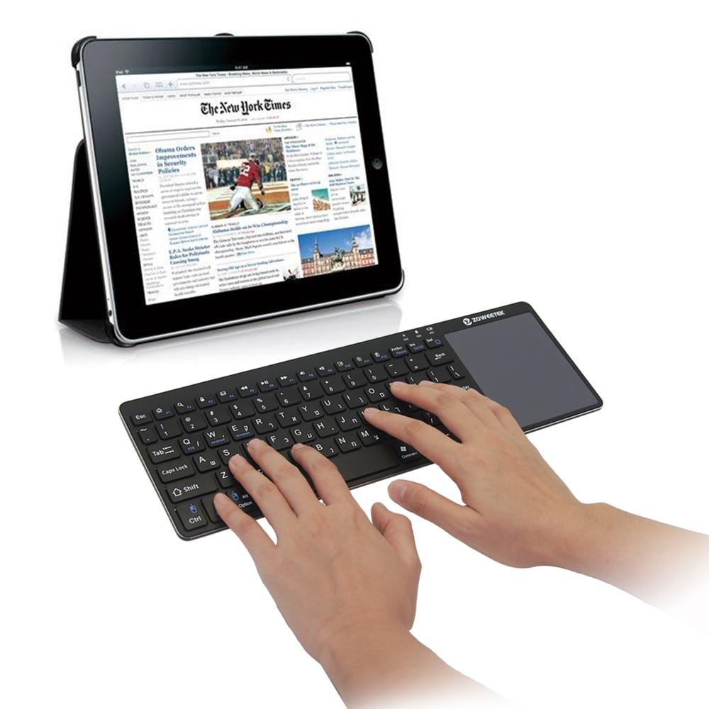 Zoweetek K12BT-1 Hebrew Ultra Slim Multimedia Aluminum Wireless Bluetooth Keyboard For IOS Android PC золотое кольцо ювелирное изделие 01k646303