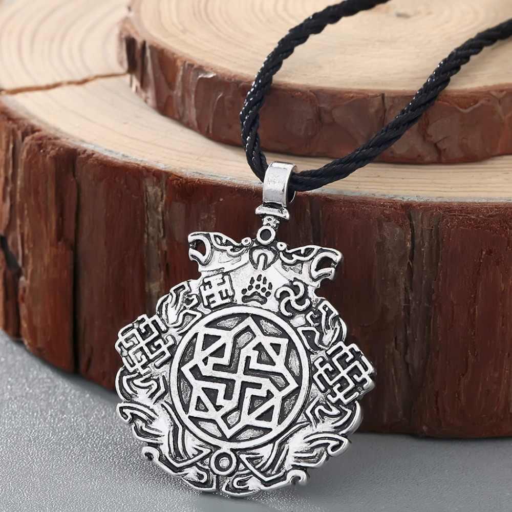CHENGXUN słowiański rycerz nocny wisiorek z amuletem słońce wisiorki Nordic Valkyrie Viking biżuteria w stylu Retro Vintage
