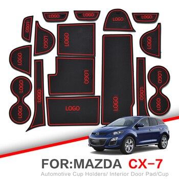 ZUNDUO porte fente pad pour Mazda CX-3 CX-7 2006-2019 CX3 CX7 intérieur porte Pad voiture porte-gobelets antidérapant tapis rouge blanc