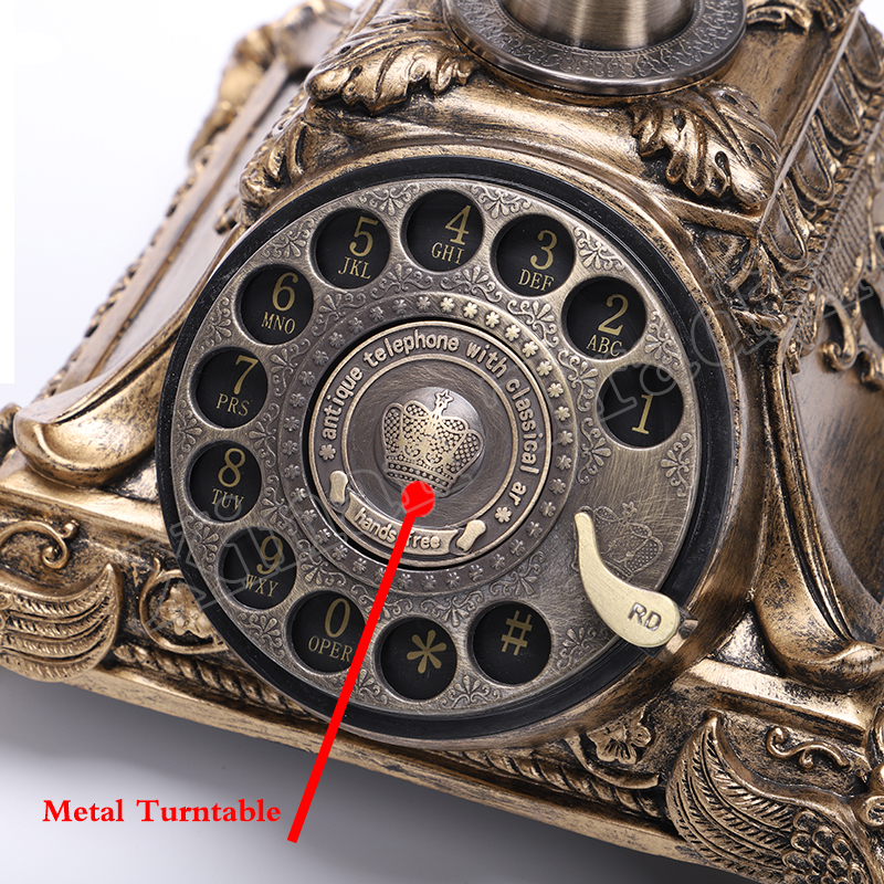 Best Deal└Dial Telephone Rotary-Button Office Antique Home for Hotel White Swivel-Plate¢