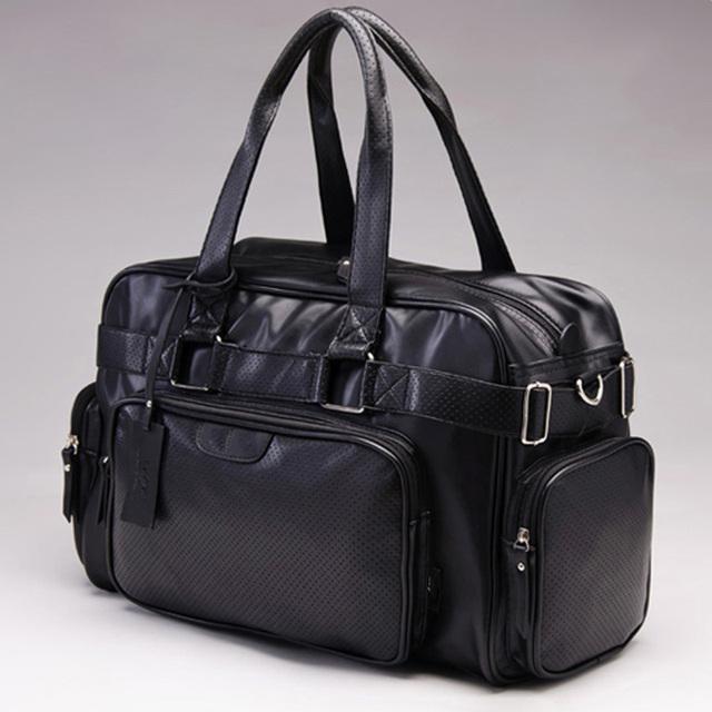 Nuevo estilo de los hombres de viaje bolsa de diseñador de moda de los bolsos de hombro bolsas de gran capacidad de la pu de cuero bolsa de lona PT1097