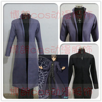 Halloween Christmas Costume Fate/stay Night Kotomine Kirei Cosplay Costumes FATE ZERO Anime Cos Clothes Trench+Coat+Pants+Cross