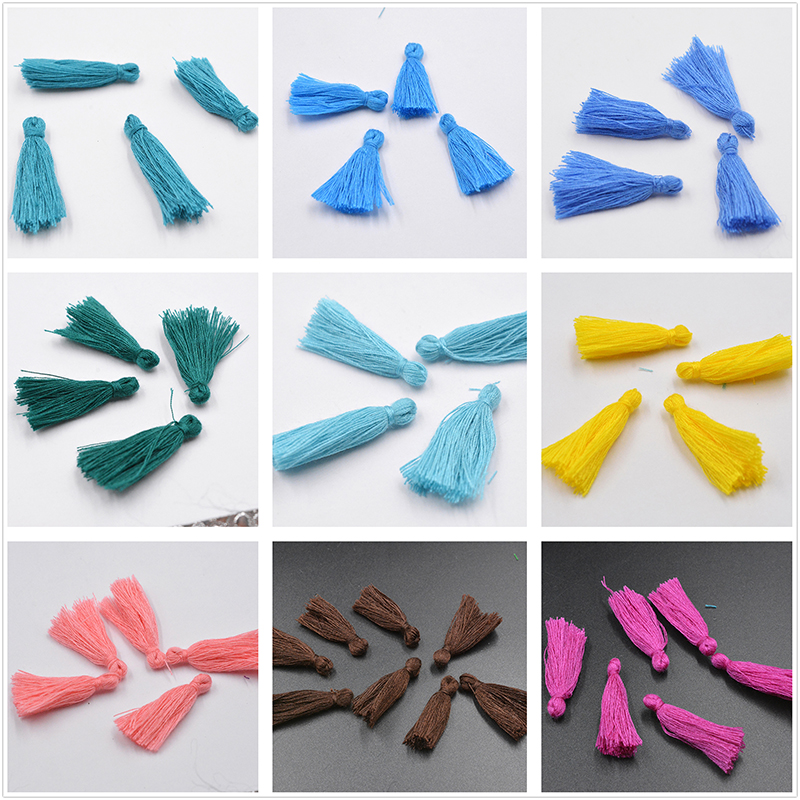 Factory Price 50pcs/lot Silk Tassel Charm Necklace Earring Findings Tassels for Key Chain Bag Clothing Decor DIY Jewelry Craft