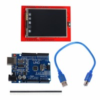 UNO R3 MEGA328P Board With 2 4 Inch TFT Touch LCD Screen Module For Arduino