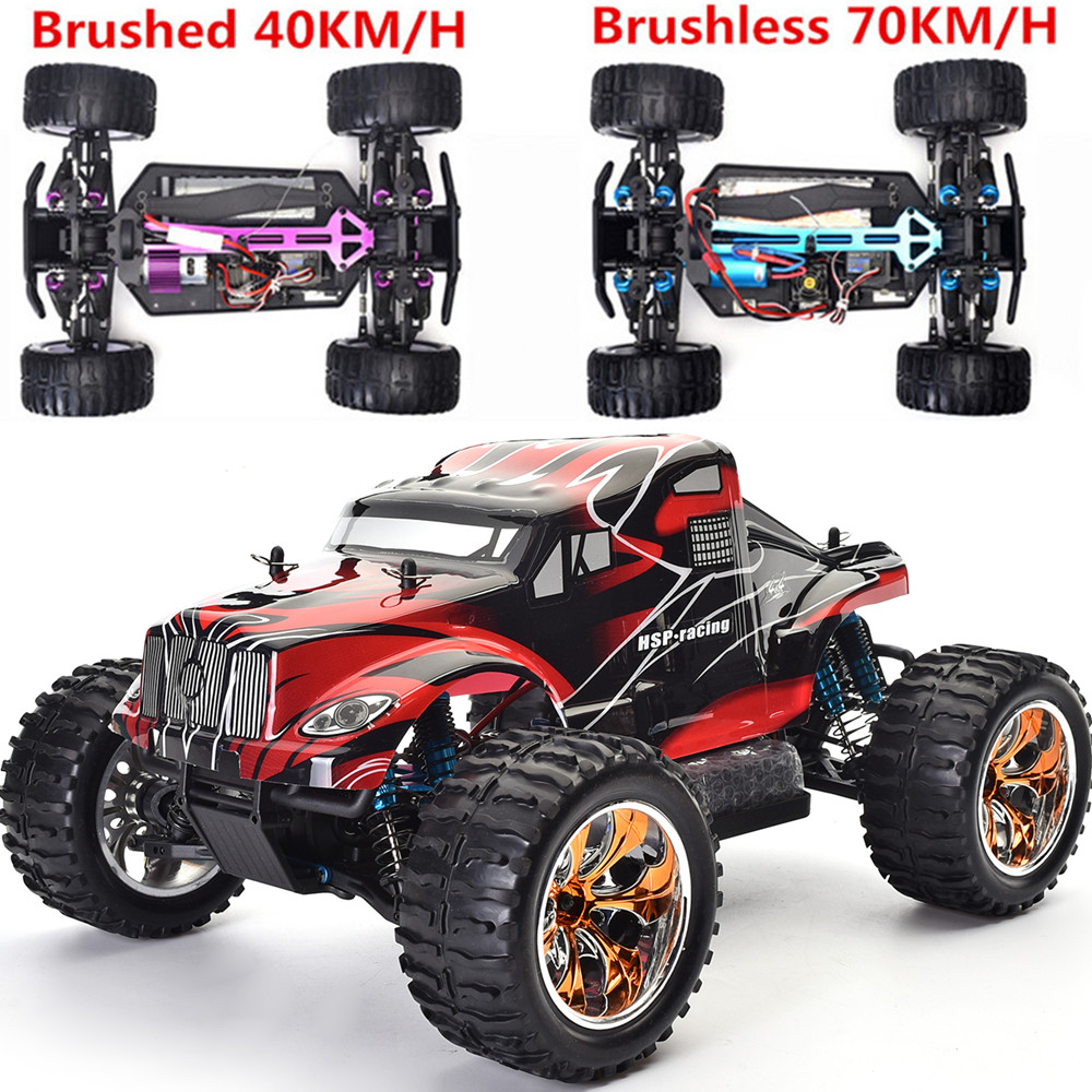 Original HSP 94111 RC Racing Car 4wd 1/10 Scale Off Road Monster Truck 94111PRO Remote Control Car Electric Power Car hsp rc car flyingfish 94123 4wd drifting car 1 10 scale electric power on road remote control car rtr similar himoto redcat