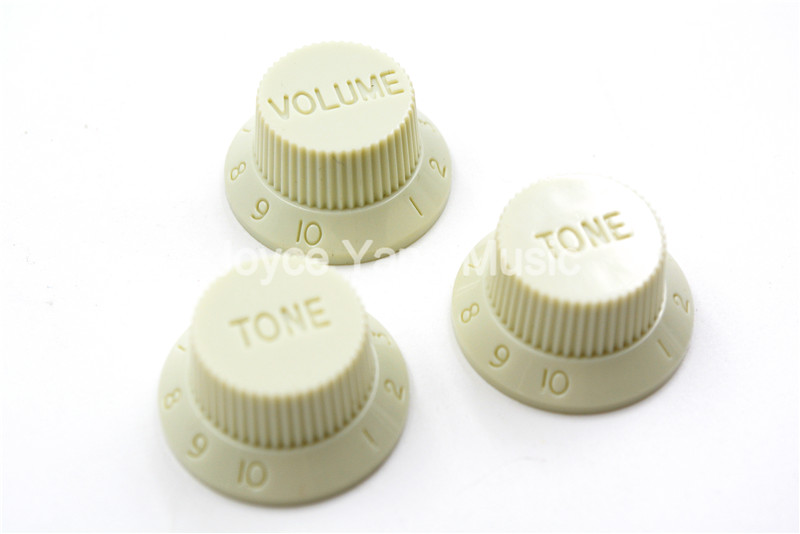 Niko Mint Green No Ink 1 Volume&2 Tone Electric Guitar Control Knobs For ST/SQ Style Electric Guitar Free Shipping Wholesales