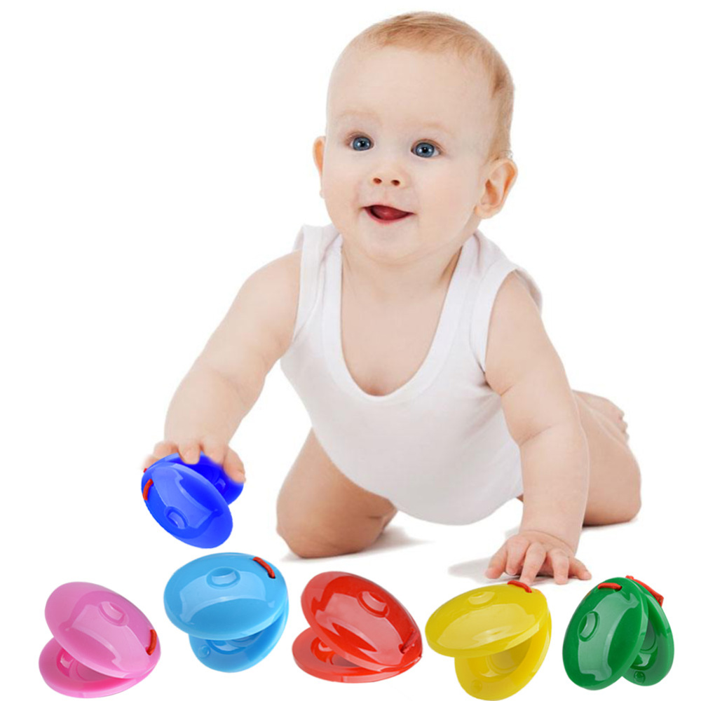 24Pcs Kids Musical Instrument Toy Finger Castanets Mini Castanet Bulk Musical Instrument Percussion Children Early Education Toy