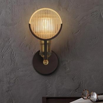 LOFT Retro American Iron Wall Lamp For Corridor Home Living Room Balcony Bedroom Dining Room Fashion Creative Artistic