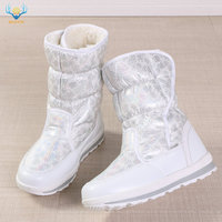 2019 Hot selling Winter Women snow boots Lady warm fake fur shoe female white Buffie brand fashionable boots anti skid outsole