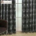 Цветочные шторы NAPEARL для гостиной  шторы на окна  синие  черные  Роскошные  жаккардовые  для балкона  кухни