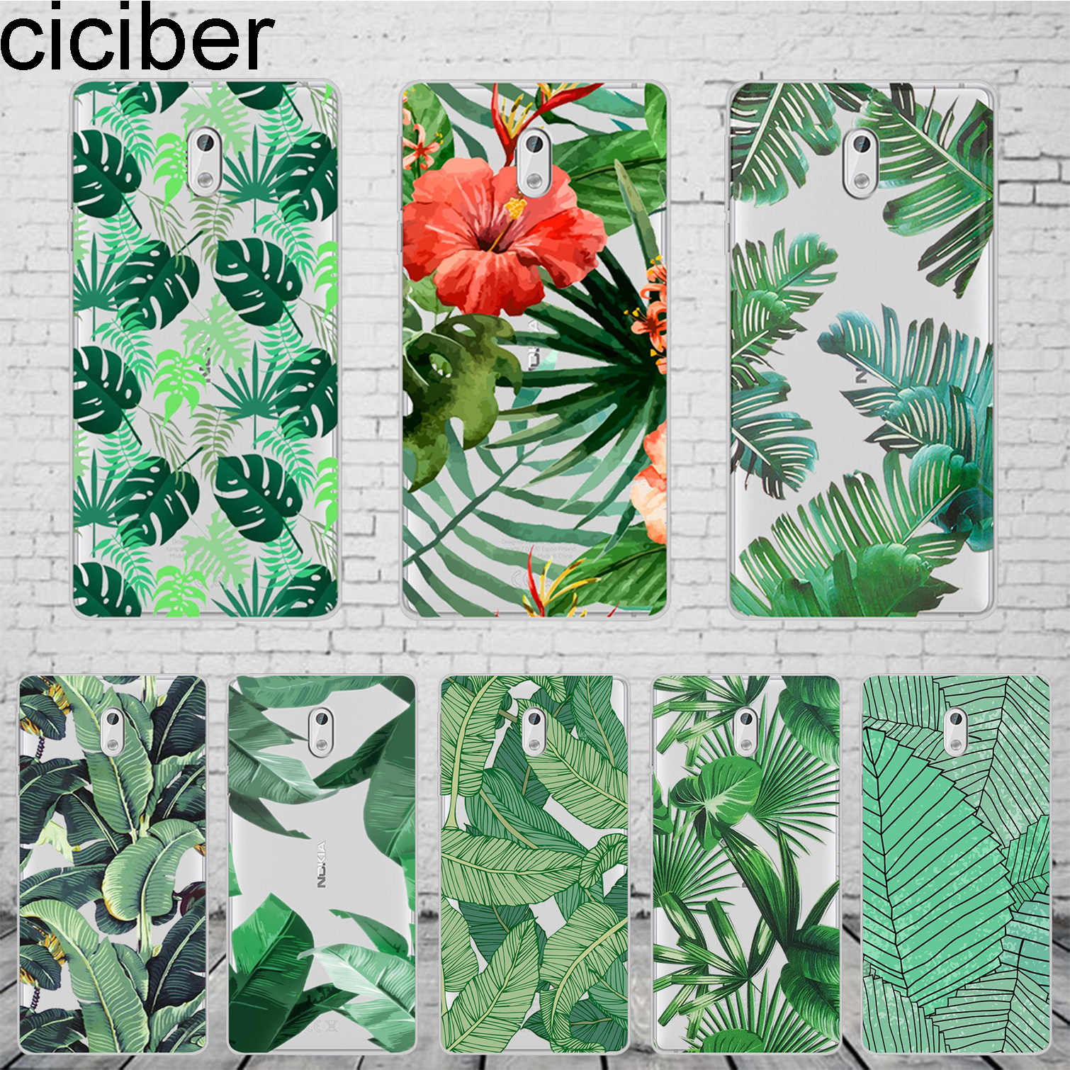 ciciber Tropical Plants Leaves For Nokia 8 7 7.1 6 6.1 5 5.1 3 3.1 2.1 1 Plus Phone cases For Nokia X7 X6 X5 X3 Cover Soft TPU