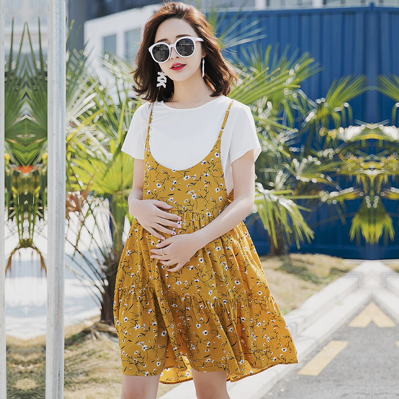 Summer Dresses For Pregnant Women Loose Dress Pregnancy Clothing Maternity T-shirt Dress Pregnancy Plus Size Clothes Y749 big biggie smalls counting money t shirt clothing men women plus size