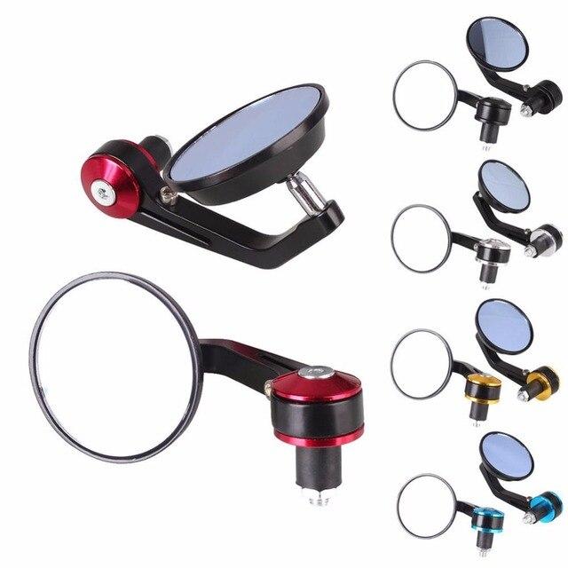"""Extremidade de espelho redondo de alumínio para bicicleta, manopla de 22mm, 1 par, 7/8 """", 22 mm"""