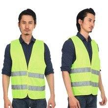 10pcs Outdoor Safety Clothing High Visibility Reflective Fluorescent Vest Running Contest Safe Vest Light-Reflective Ventilat