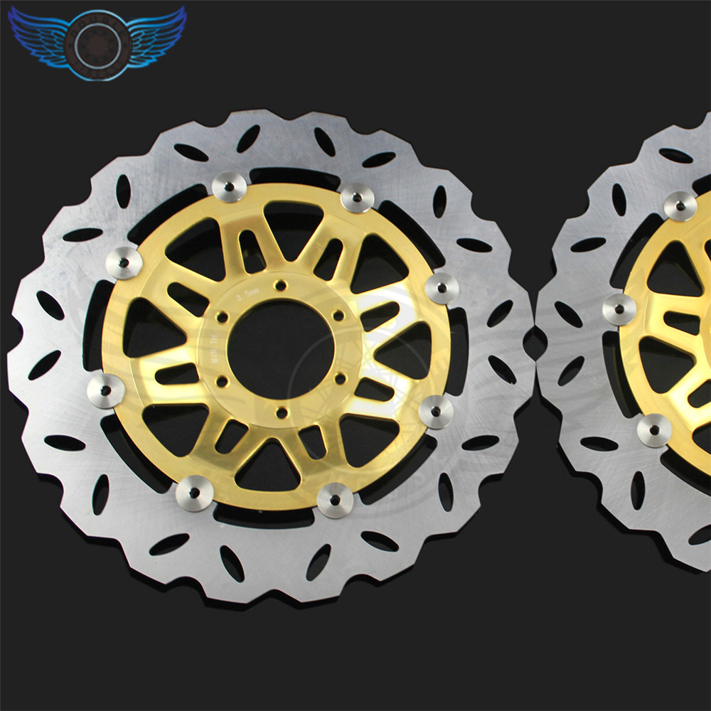 high quality 2 pieces motorcycle Accessories Front Brake Discs Rotor For Honda CB400 1992 1993 1994 1995 1996 1997 1998 motorcycle accessories front brake discs rotor for suzuki gsf1200 2006 06 motorbike accessories front brake cn