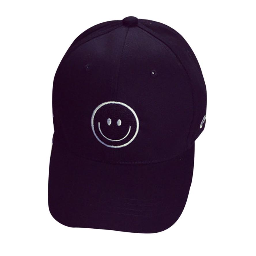 d10135baee4 Aliexpress.com   Buy children summer Baseball Caps Letter Smile printing  kids hats Cotton Embroidery Baseball Cap Boys Girl Snapback Hip Hop Flat Hat  from ...