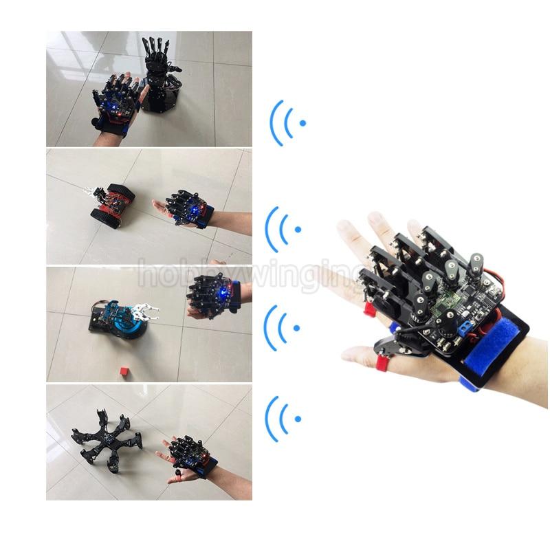 Oyuncaklar ve Hobi Ürünleri'ten Parçalar ve Aksesuarlar'de Robotik Kablosuz Somatosensoriyel Denetleyici Exoskeleton El Palm Parmak Uzaktan Kumanda DIY RC Arduino Açık Kaynak Robot'da  Grup 1