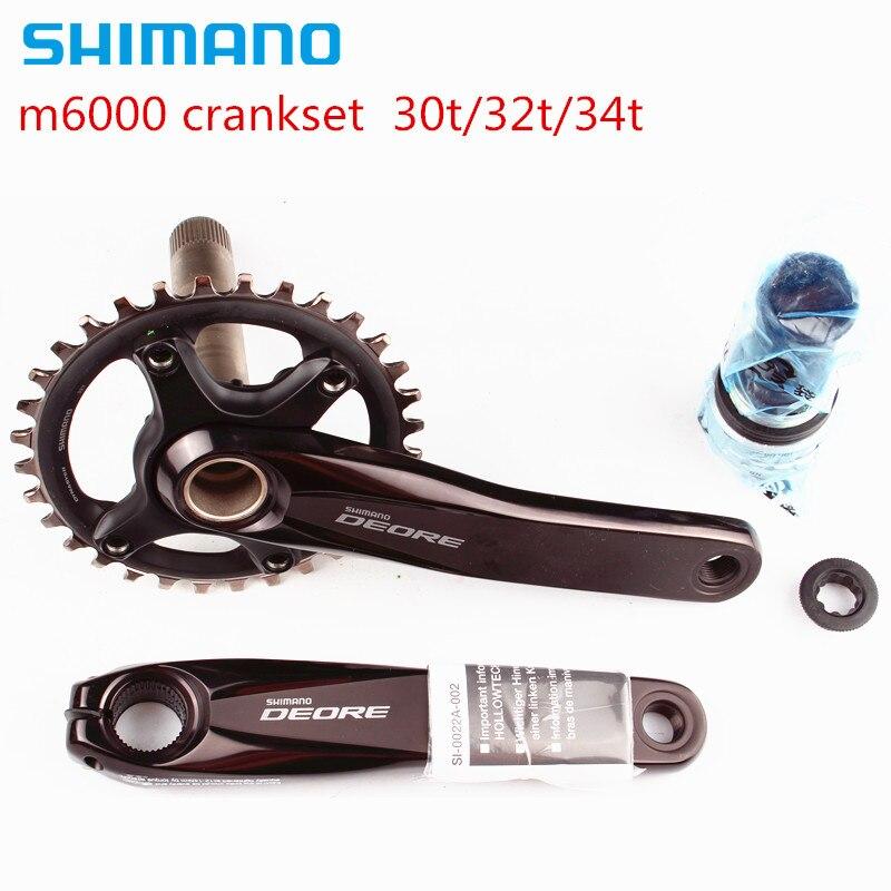 shimano DEORE m6000 11 speed bike bicycle mtb crankset with bb52 Bottom Bracket аксессуар shimano tl un74 s bottom bracket