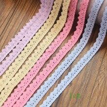 12 ярдов хлопчатобумажная кружевная лента DIY ручной работы для свадебной вечеринки подарочная упаковка лоскутное хлопковое вязаное кружево
