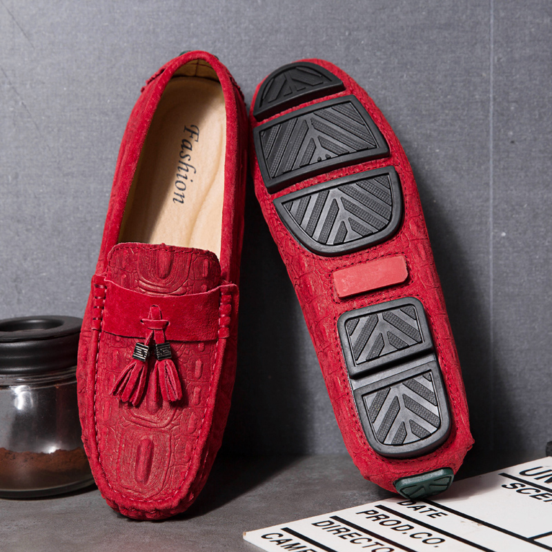 Rommedal New Arrival Blue Red Loafers British Fashion Tassel Casual Shoes Breathable Man Boat Shoes Non-Slip Hard-Wearing 2019