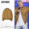 Dark golden Bomber Jackets 2016 GD Korean Fashion Men MA1 Pilot outerwear Autumn Pad Coat off-shoulder Baseball Collar CN SIZE
