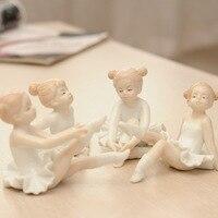 Kreative ballett mädchen selbstverteidigung ornamente Europäischen harz wohnaccessoires handwerk wohnzimmer kleine figuren Dekorationen geschenke