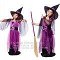 Дети хэллоуин косплей костюм платье милые ведьмы одежда для маскарада ну вечеринку платье принцессы косплей костюм