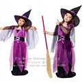 Kids Halloween Cosplay Costume Dress Little Girls Dress Cute Witch Clothing for Masquerade Party Princess Dress Cosplay Costume