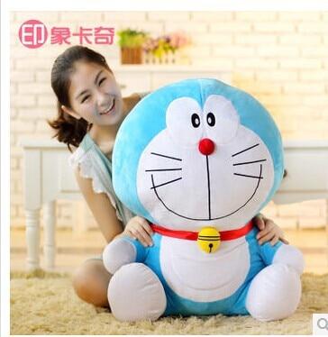 Movie & TV Doraemon plush toy 65cm classic design happy doraemon doll birthday gift w2275