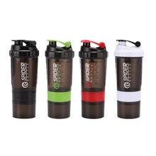 ¡ Promoción! Batidos de proteína En Polvo Botella de Batido de Mezcla Fitness Deportivo Hervidor Araña Proteína Coctelera Botella de Deportes Acuáticos
