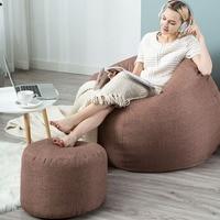 Outdoor single bean bag sofa tatami sweat steaming hotel sofa creative balcony lazy couch bean bag sofa  FC0070