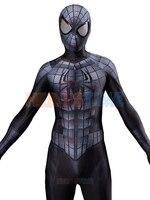 Черный, серый, Человек паук, косплей костюм Raimi, Человек паук, костюм с 3D мускулами, спандекс, лайкра, косплей костюм
