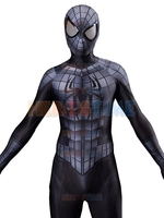 Black Grey Spiderman Cosplay Costume Raimi Spider Man Suit with 3D Muscle Shades Spandex Lycra Cosplay Suit