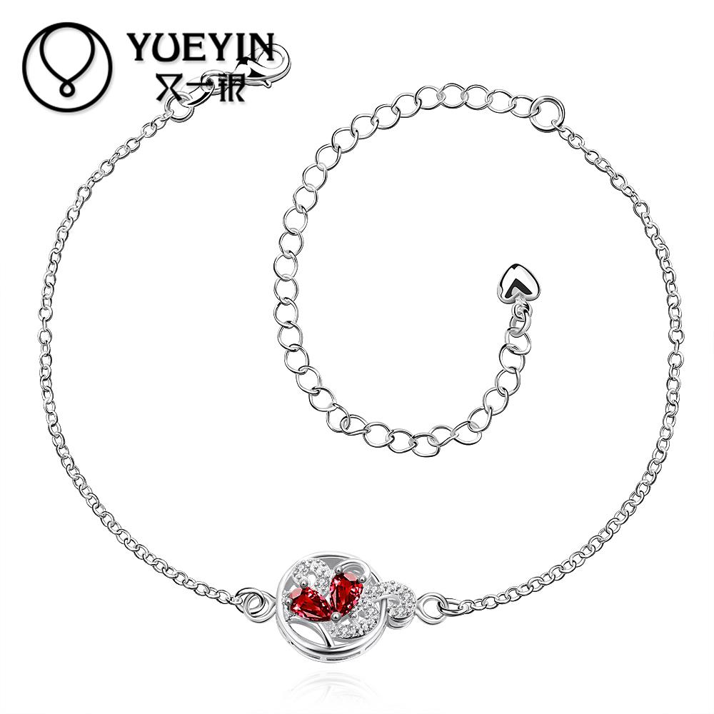 Hot Sale Silver Plated Anklet Bracelet with Stock Delicate Anklets for Women Foot Jewelry .