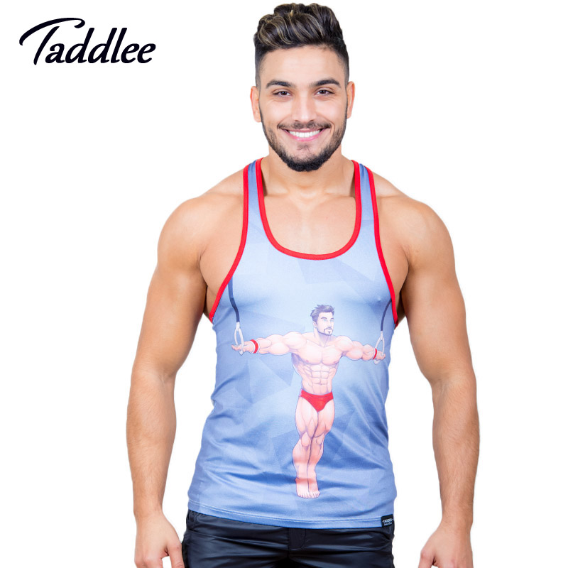 Symbol Of The Brand Taddlee Brand Fashion New Mens Tank Top Sports Running Tee Shirts Sleeveless Gasp Fitness Stringer Singlets Muscle Undershirts Running Vests Sports & Entertainment
