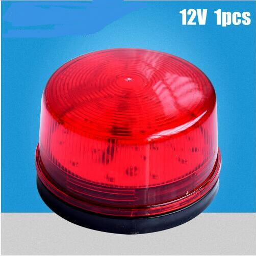 Red Mini Wired Strobe Siren DC12V Signal Warning LED Light Flash Lamp  High Light Alarm Lamp For Home Security Alarm System