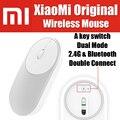 XMSB01MW Stock!! 77g gaming oficina original xiaomi portátil ratón óptico inalámbrico bluetooth 4.0 rf 2.4 ghz dual modo de conectar