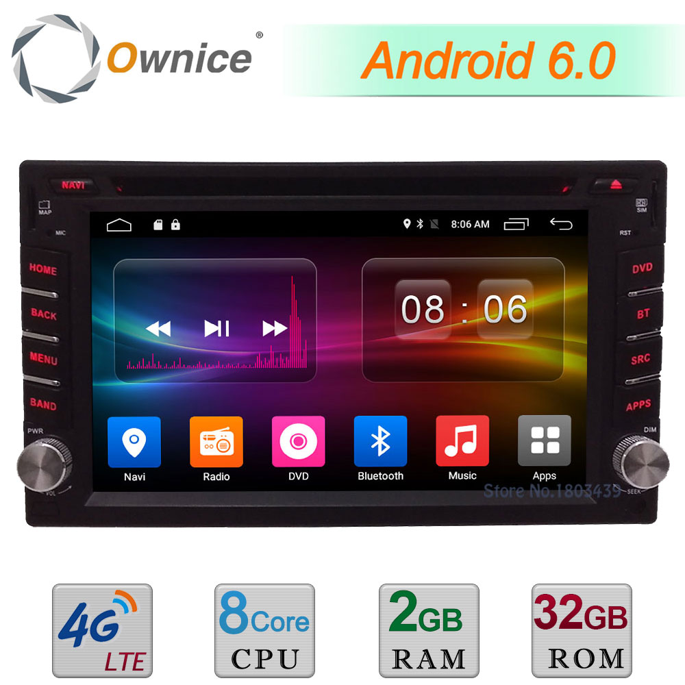 Ownice C500 Octa 8 Core Android 6.0 2G RAM 32GB ROM BT Support 4G LTE SIM Network Car GPS 2Din Universal Car Radio Player Stereo ownice c500 octa 8 core android 6 0 2din 8 1024 600 car dvd for kia new ceed wifi radio gps 2gb ram 32gb rom support 4g dab