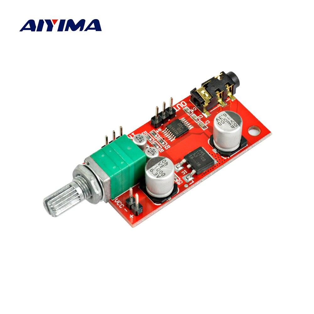 Aiyima MAX4410 Amplificatore Per Cuffie Consiglio Auricolare Amplificatore Mini Amplificatore Amp Per La Pre-amplificatore Singolo amplificatore di Potenza Della Batteria