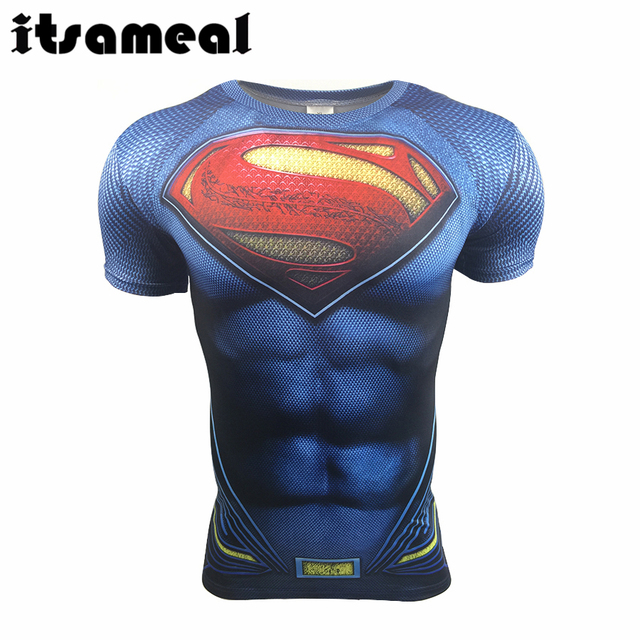 Batman VS Superman T-shirt Tee 3D Imprimé T-shirts Hommes Baseball-Shirt dc56b1d3db7