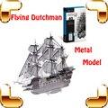 Presente de Ano novo Flying Dutchman 3D Modelo de Navio de Bandeira de Metal Escritório Decoração de casa DIY Liga Batalha Barco Puzzle Brinquedos Para Homens Presente