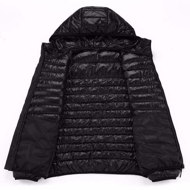 2019 hommes à capuche ultra-léger blanc canard vers le bas veste chaude ligne Portable paquet hommes pack veste 4